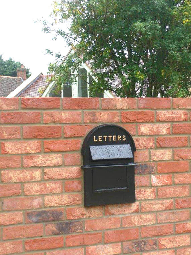 Traditonal wall recessed postbox