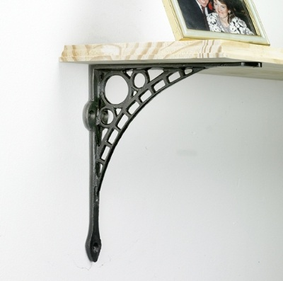 iron shelf brackets black country metal works. Black Bedroom Furniture Sets. Home Design Ideas