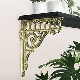 Brass Shelf Brackets