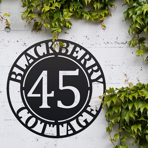 Modern Iron House Number Signs