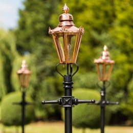 Hexagonal Garden Lamp Posts