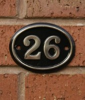 Brass Oval House Number Signs