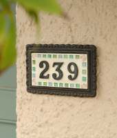 Iron & Ceramic House Signs