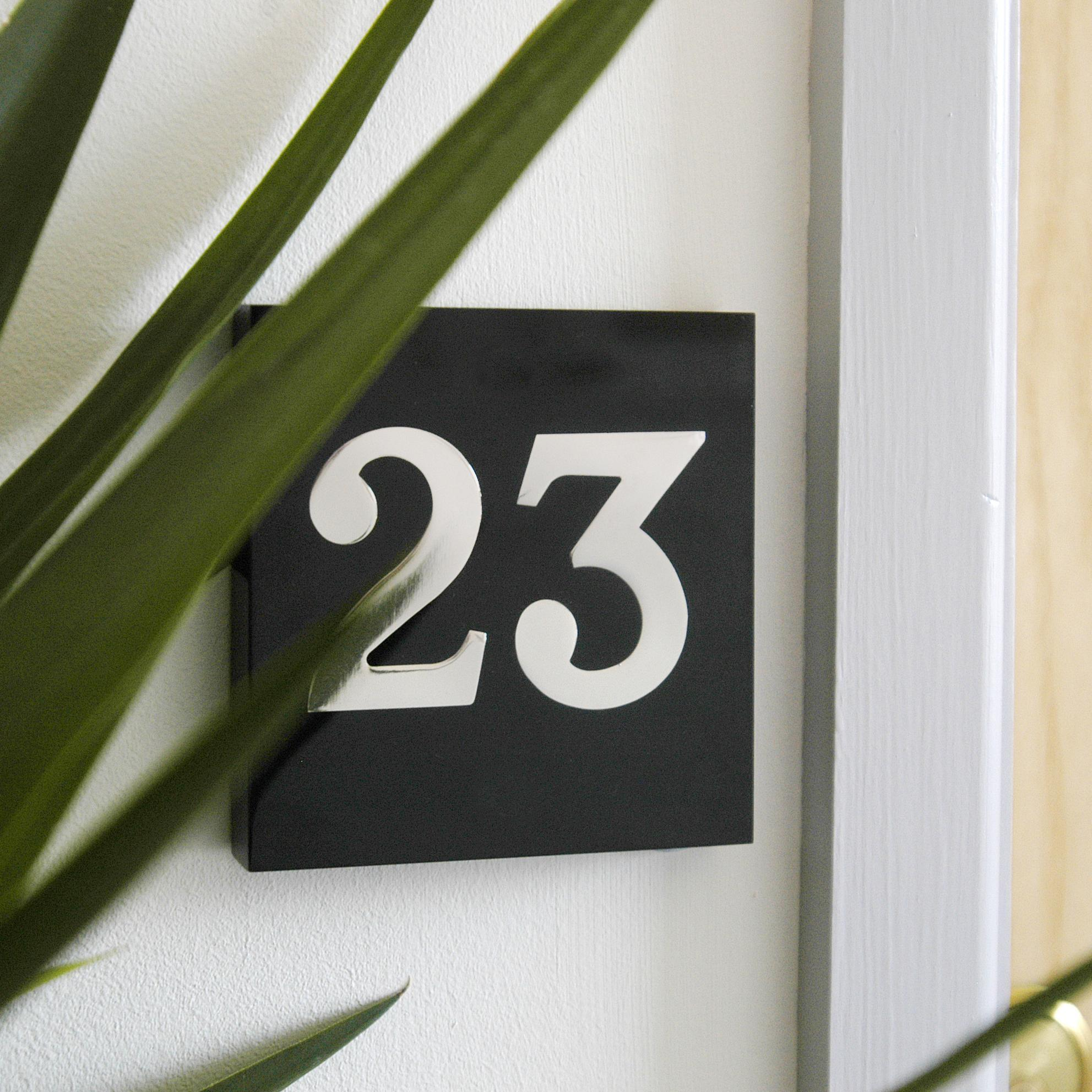 Modern House Number Signs