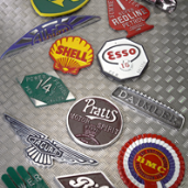Reproduction Petrol and Car Badges