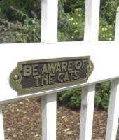 Cat Garden Signs