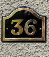 Brass Arched House Number Signs