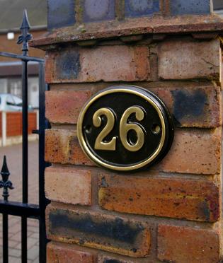 House Door Number Sign Fairy Design Metal Door Sign