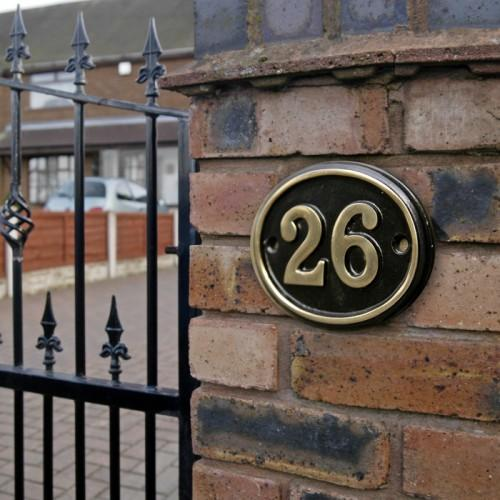 Brass House Number Signs