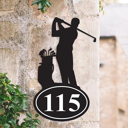 Sports & Sports Team House Number Signs