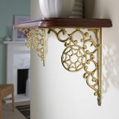 Wall Brackets in Chrome, Brass and Iron