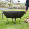 Kadai Bowl with stand in garden setting