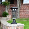 1920's Inspired Entrance Pillar Light in Situ on a Brick wall