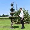 4 Tier Mermaid Garden Fountain Scale Shot