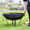 90cm Kadai Bowl with handles down with male for scale