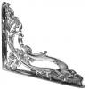 Bright Chrome Ornate Design Shelf Bracket