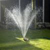 Bronze watering can sprinkler working