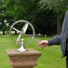 """Almwick Manor"" Solid Brass Armillary Sundial to Scale"