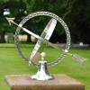 """Almwick Manor"" Armillary Sundial Created From Solid Brass and Finished in an Antique Silver"