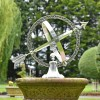 """Almwick Manor"" Armillary Sundial in Use in the Garden"
