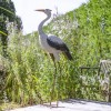 Hand Painted Heron Sculpture Outside