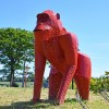 """""""Lord Greystoke"""" Stunning Silverback Gorilla Finished in Red"""