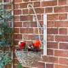 'Turenne' Rustic Cream Hanging Basket Bracket Holding a Flower Basket