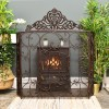 """""""Althrope"""" Fire Guard Finished in a Deep Bronze"""