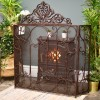 """""""Althrope"""" Fire Guard in Situ Next to the Fireplace"""