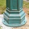 Antique Blue Cast Iron Lamp Post Base Plate