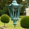 Antique Blue Six Sided Gothic Style Lantern