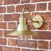 Antique Brass Traditional Barn Wall Light on Situ on a Brick Wall