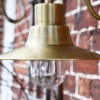 Close-up of the Antique Brass Finish on the Wall Light