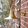 Side View of the Antique Brass Traditional Barn Wall Light