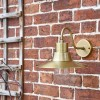 Traditional Barn Wall Light in Situ on the Front of a House