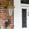 Antique brass traditional wall light