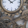 Close-up of the Antique Bronze on the Cog Clock