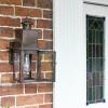Antique Copper Square Wall Lantern In Porch Setting