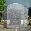 Antique Silver Heart Inspired Fire Screen