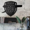 Black 'Arsenal Cannon' Wall Art- Personalised