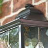 Close-up of the Leaded Glass and Black Finish