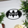 'Batman' Personalised Wall Art with the Name Rupert