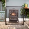 Classic log burner fire guard