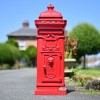 Front of freestanding letter box for driveway