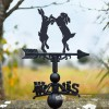 Boxing Hares Weathervane Finished in Black