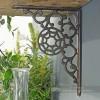 Unusual iron shelf bracket