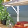 White simplistic shelf bracket