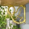 Household Hardware Swan design brass shelf bracket