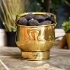 Polished Brass Coal Bucket