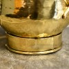 Close-up of the Hammered Brass Finish